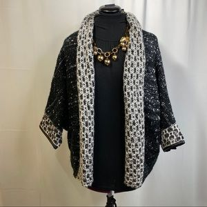 Alberto Makali Open Drape Knit Cardigan Sweater
